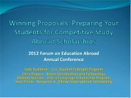 2012 Forum on Education Abroad Annual Conference