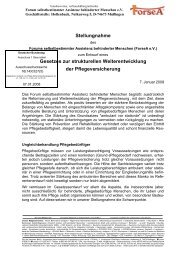 Stellungnahme - ForseA