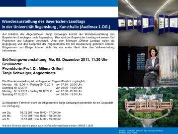 Wanderausstellung des Bayerischen Landtags in der Universität ...