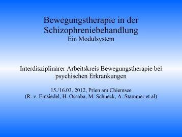 Grundlagen der Bewegungstherapie / Psychomotorischen Therapie ...