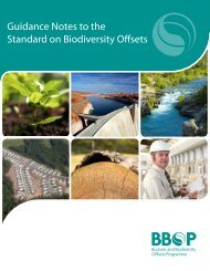 Guidance Notes to the Standard on Biodiversity Offsets - Forest Trends