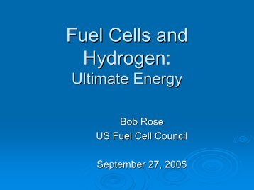 Ultimate Energy - Fuel Cells 2000