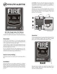 BG-12SL Single Action Pull Station - Fire-Lite Alarms