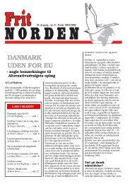 DANMARK UDEN FOR EU - Frit Norden