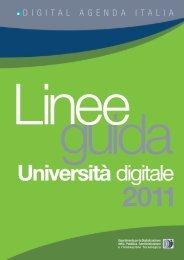 Linee guida Università Digitale 2011 - Il programma ICT4University