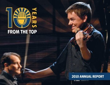 2010 ANNUAL REPORT - From the Top