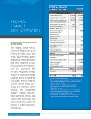 FTA Budget Highlights FY 2014 - Federal Transit Administration ...