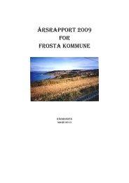 Årsrapport 2009 - Frosta kommune - Domene