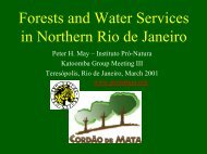 Forests and Water Services in Northern Rio de Janeiro - Forest Trends