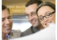 MINT-Berufe haben Zukunft. - Forum Bildung