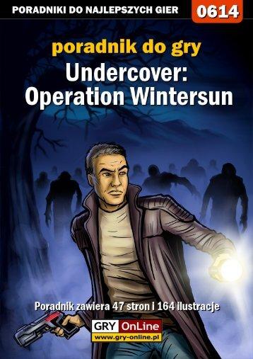 Nieoficjalny poradnik GRY-OnLine do gry Undercover ... - Gandalf