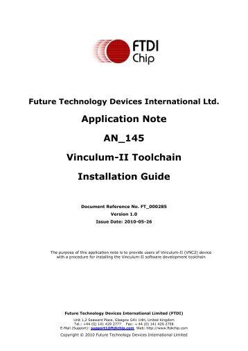 Vinculum-II Toolchain Installation Guide - FTDI
