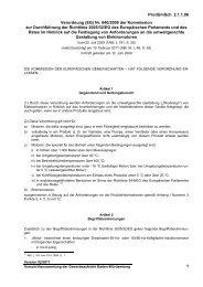 Verordnung (EG) Nr. 640/2009 der Kommission zur Durchführung ...