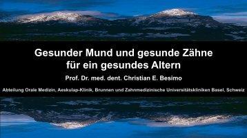 Prof. Dr. Christian E. Besimo - Forums Gesundheitswirtschaft Basel