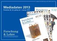 Download Mediadaten 2013 - Forschung & Lehre