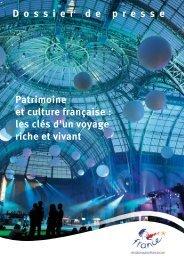D ossierdepresse Patrimoine et culture française - Maison de la ...
