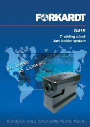 T-sliding block Jaw holder system - Forkardt