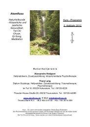 Atemfluss Naturheilkunde - Körperliche und seelische Gesundheit ...