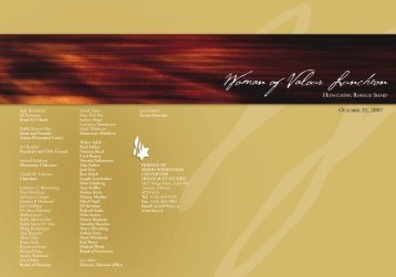 Woman of Valour 2007 Invitation - Friends of Simon Wiesenthal ...