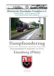 Dampfsonderzug - Historische Eisenbahn Frankfurt