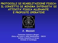 protocolli di riabilitazione fisica - Fondazione Salvatore Maugeri