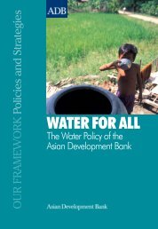 water cover.pmd - NGO Forum on ADB