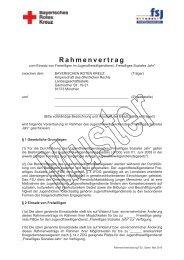 Muster Rahmenvertrag mit Einsatzstelle - Freiwilliges Soziales Jahr ...