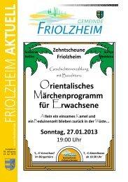 Blättle KW 4 - Friolzheim