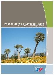 PROPOSITIONS D'ACTIONS - 2009 - Maison de la France