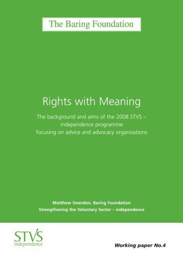Rights with Meaning - Baring Foundation