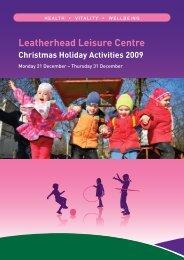 Leatherhead Leisure Centre Christmas Holiday ... - Fusion Lifestyle