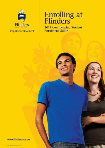 Enrolling at Flinders - Flinders University