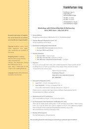 Workshop with Richard Bartlett & Melissa Joy June 30th June -July ...