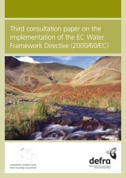 Chapter 2: Summary of responses to the second ... - FreshwaterLife