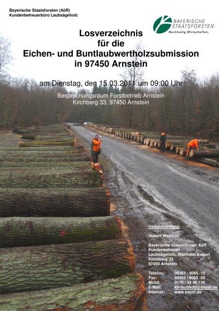 Losverzeichnis für die Eichen- und ... - Bayerische Staatsforsten