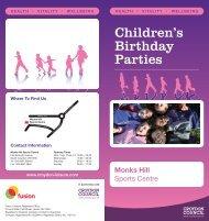 Children's Birthday Parties - Fusion Lifestyle