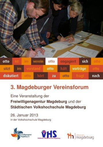 3. Magdeburger Vereinsforum - Freiwilligenagentur Magdeburg