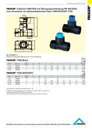 FRIALEN® T-Stücke TGB/TGN mit Übergangsverbindung PE-HD ...