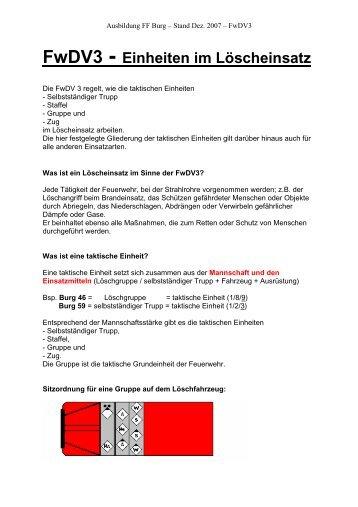 Übungsbesprechung taktische Lösung - Feuerwehr Oberseetal