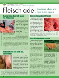 Tiere leben lassen - Magazin Freiheit für Tiere