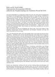 Rede von Dr. Erich Follath, Diplomatischer Korrespondent SPIEGEL ...
