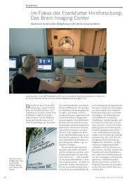 Das Brain Imaging Center - Forschung Frankfurt