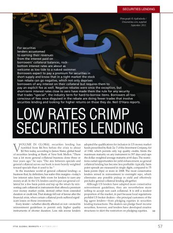 LOW RATES CRIMP SECURITIES LENDING - FTSE