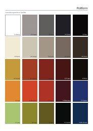 Colori e materiali Poliform Wall System (pdf) - Fumanti Casa