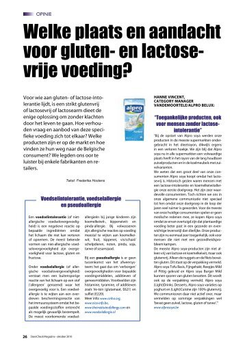 Welke plaats en aandacht voor gluten- en lactose - Frederika Hostens