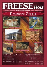 Preisliste 2010 - Freese Holz