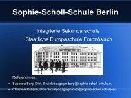 Sophie-Scholl-Schule Berlin - Ganztägig Lernen.