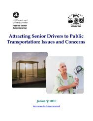 Attracting Senior Drivers to Public Transportation - Federal Transit ...