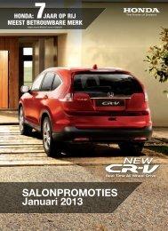Promoties - Honda