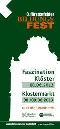 Faszination Klöster - Veranstaltungsforum Fürstenfeld
